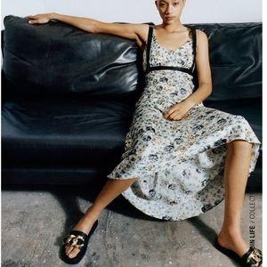 Zara Satin Effect Print Dress